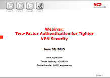Two-Factor Authentication for Tighter VPN Security